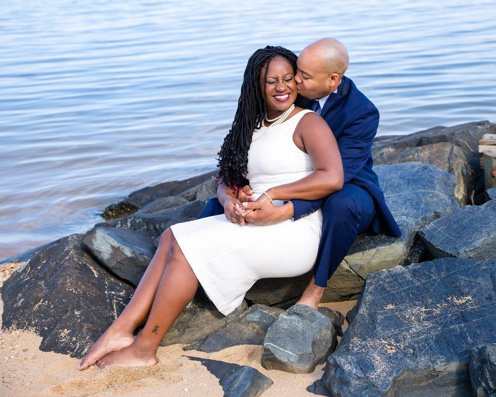prewedding photos at the beach in Pasadena, MD