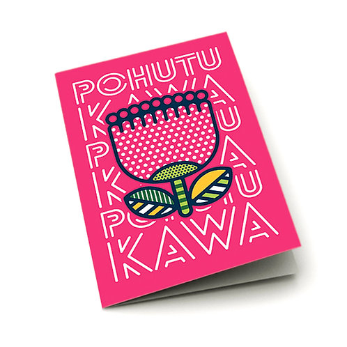 Greeting Card - Pop Pohutukawa