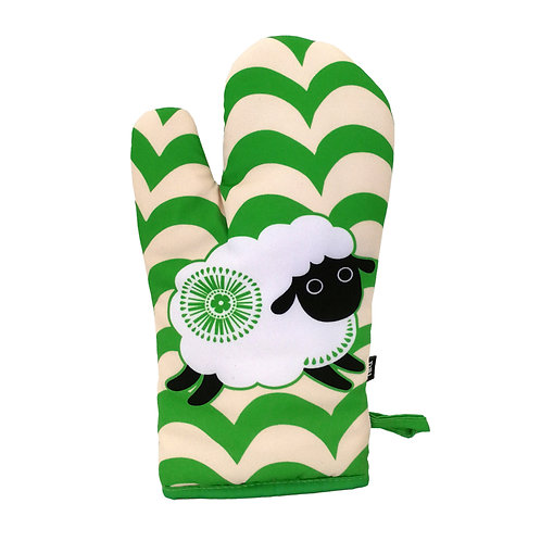 Oven Glove - Retro Sheep