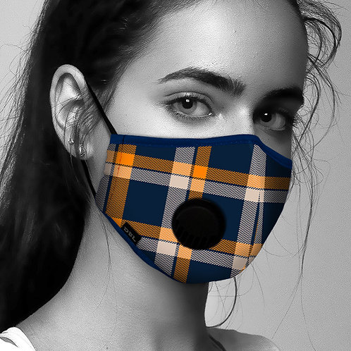 Face Mask Anti-Pollution - Tartan