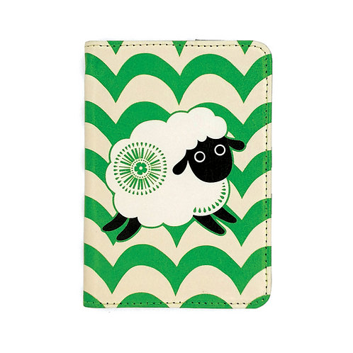 Passport Holder - Retro Sheep