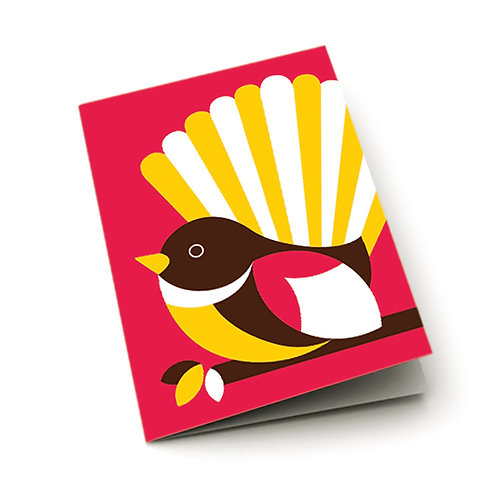 Greeting Card - Iconic Fantail