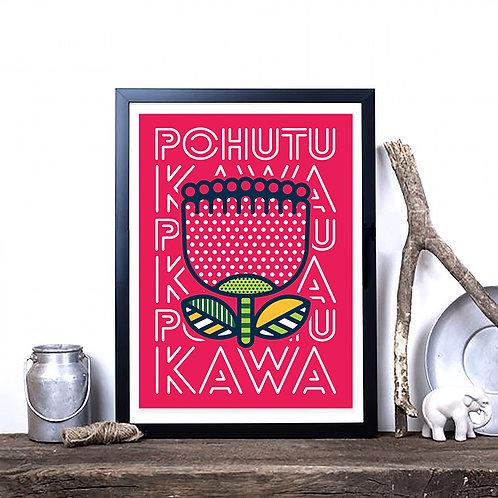 Art Print - Pop Pohutukawa