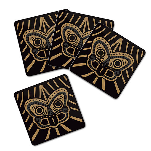Coaster Set - Tiki Gold