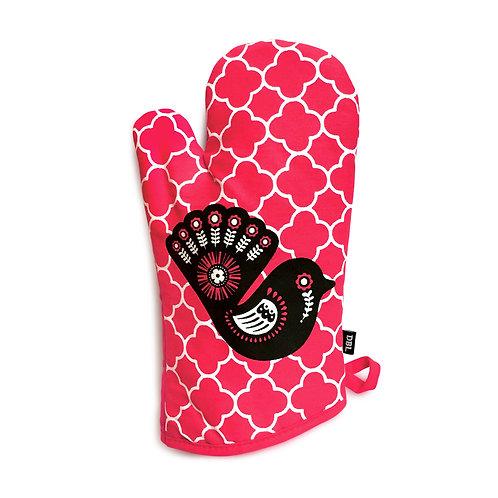 Oven Glove - Retro Fantail