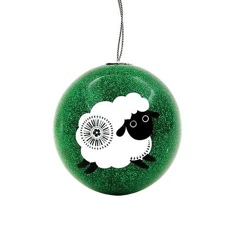 Set of 2 Xmas Baubles - Retro Sheep