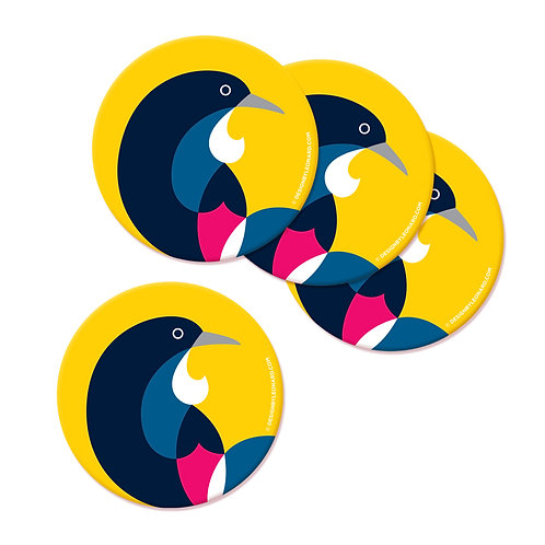 Coaster Set - Iconic Tui