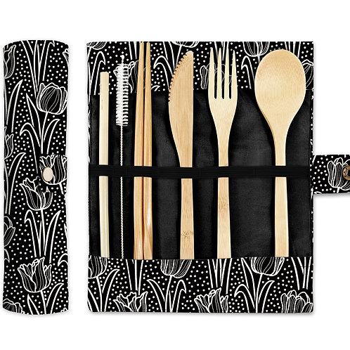Bamboo Cutlery Set - Tulip