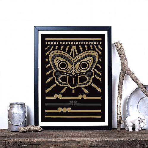 Art Print - Tiki Gold