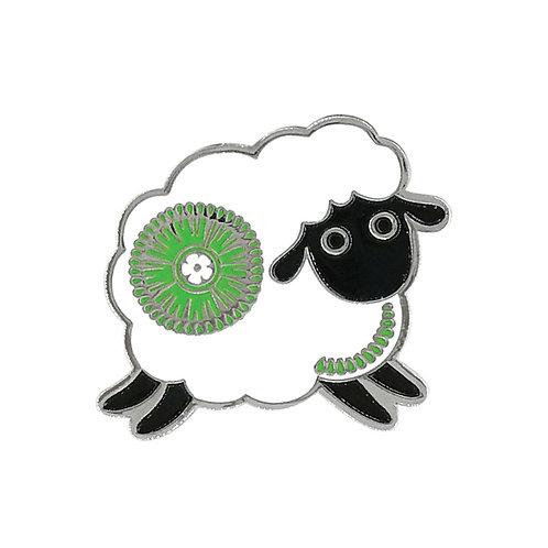 Lapel Pin - Retro Sheep