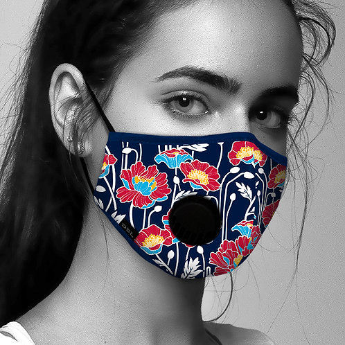Face Mask Anti-Pollution - Windflowers (Available Early Oct)