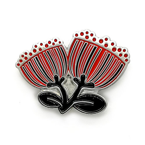 Lapel Pin - Scandi Pohutukawa