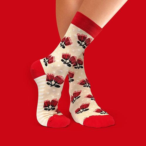 Socks - Scandi Pohutukawa