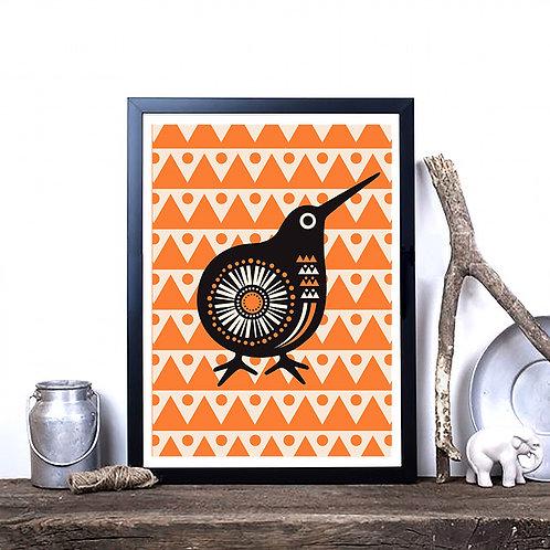 Art Print - Retro Kiwi