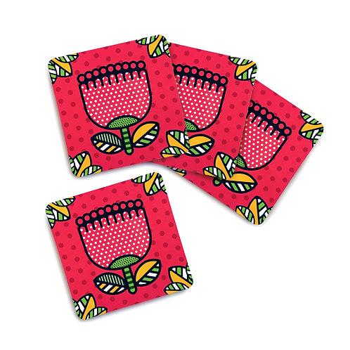 Coaster Set - Pop Pohutukawa