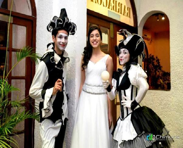 Arlequines Uruguay, Contrataciones de Arlequines en Uruguay, Atracciones para recepciones Uruguay, A