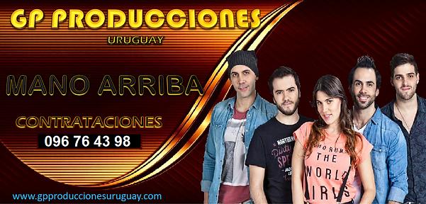 Mano Arriba Contrataciones Uruguay, Contratar Mano Arriba Uruguay, Banda Mano Arriba Contr