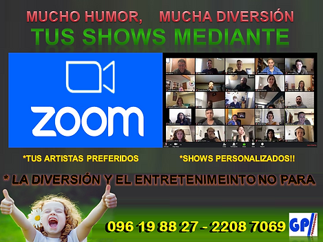 ARTISTAS URUGUAYOS ZOOM, SHOWS URUGUAY Z