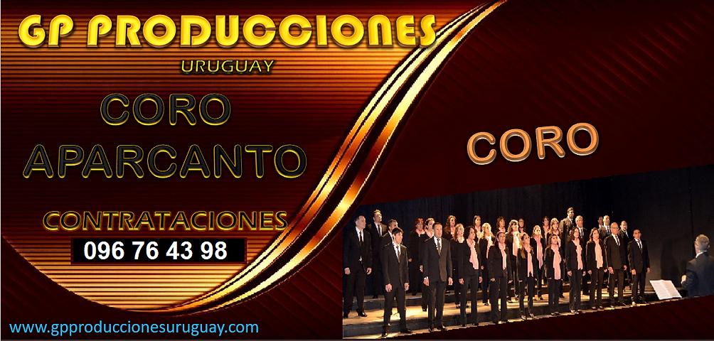 Coro Aparcanto Uruguay Contrataciones, Contratar Coro en Uruguay, Contrataciones Coro Urug