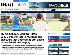 Mykonos Retreat in The Daily Mail