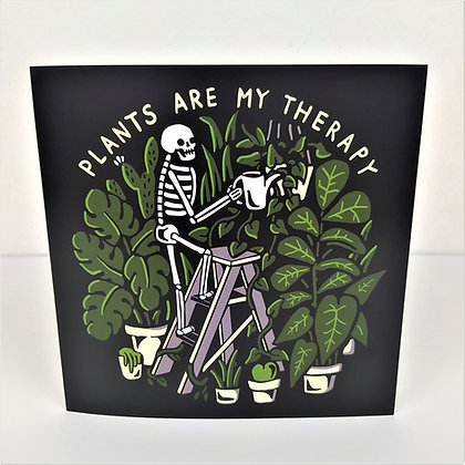 Plants Are My Therapy Greetings Card