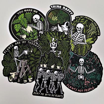 CATSNEEZE Plants Sticker Pack - 7 Vinyl 10 cm Stickers
