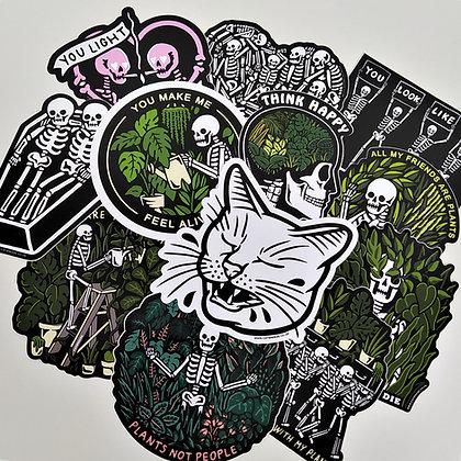 CATSNEEZE Complete Sticker Pack - All 12 Vinyl 10 cm Stickers