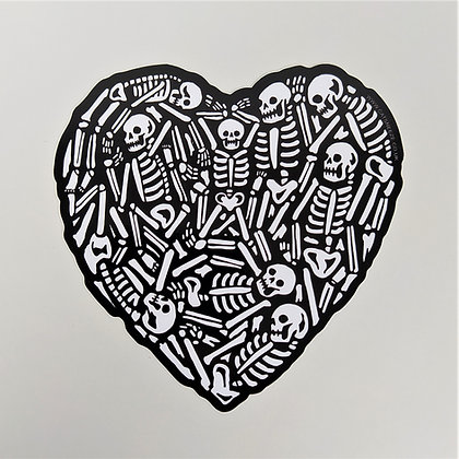 Heavy Heart 10 cm Vinyl Sticker