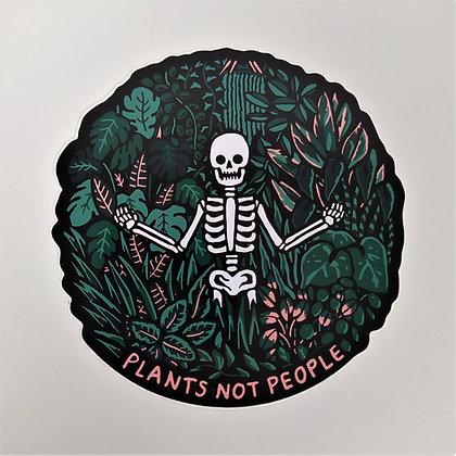Plants Not People 10 cm Vinyl Sticker