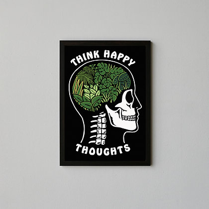Think Happy Thoughts A3 Heavyweight Art Print