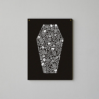 Coffin Screen Printed Wall Hanging - 50 cm x 70 cm