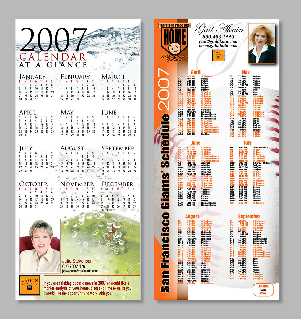 Real Estate Giveaway Calendars