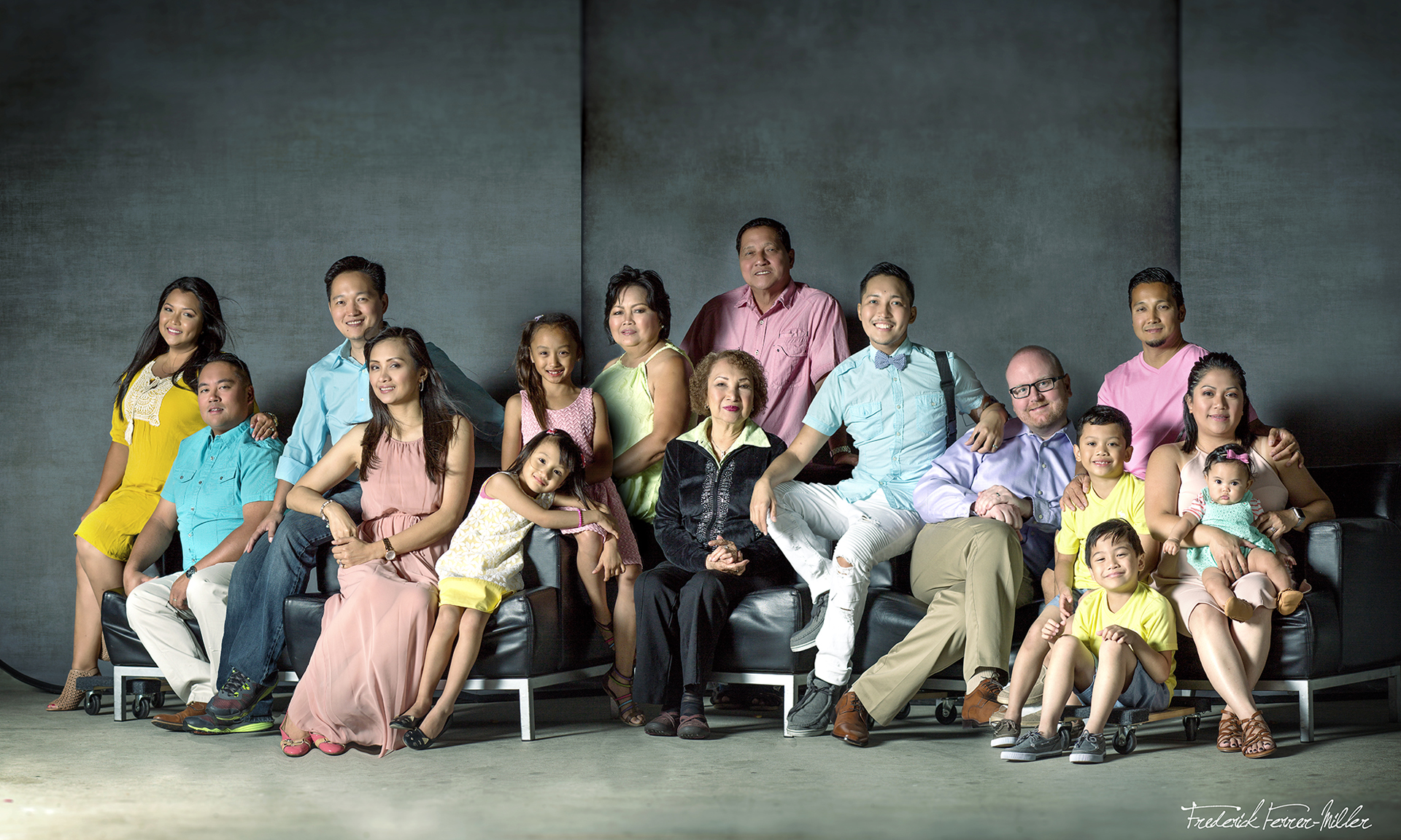 Ferrer Family Photo Composite