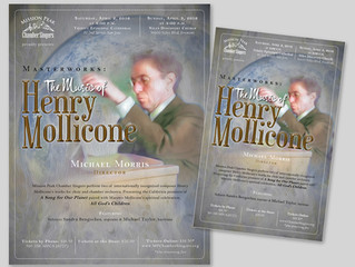Projects: Print Designs for The Music of Henry Mollicone Concert by the Mission Peak Chamber Singers