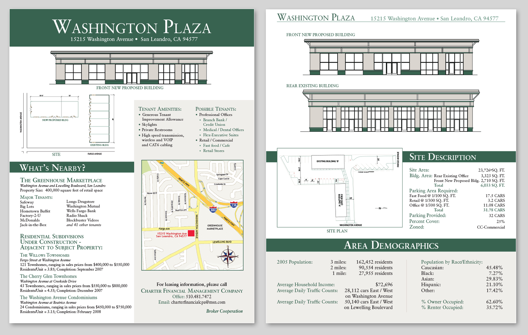 Washington Plaza Plan Advertisement