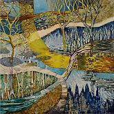 The river flows cool #1 93cm x 93cm resi
