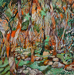 Nailcan Hill #4 90cm x 90cm resize green