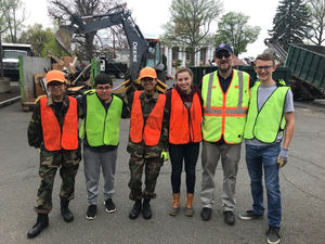 CAP Cadets and Senior Members Volunteer at two different