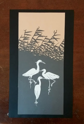 Storks in Bamboo