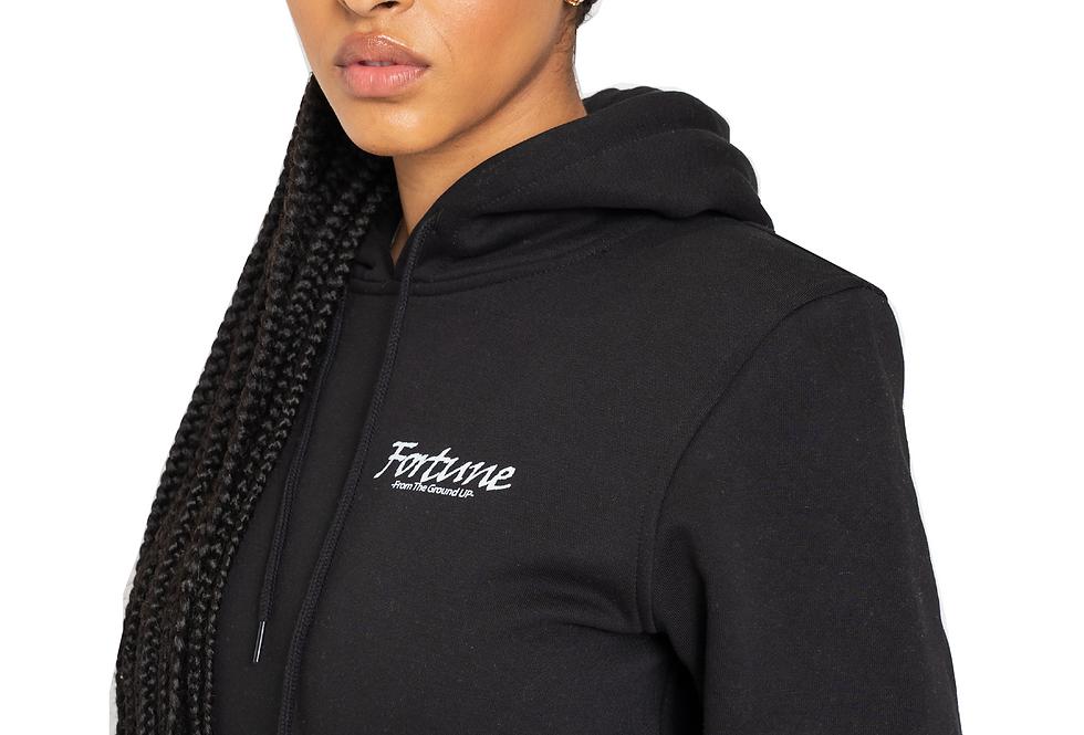"Women's Black ""Love Builds"" Hooded Sweatshirt"