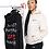 "Thumbnail: Two Women's ""Love Builds"" Hooded Sweatshirt // BLACK & BEIGE SET"