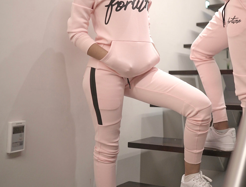 Women's Baby Pink Fortune Signature Tracksuit