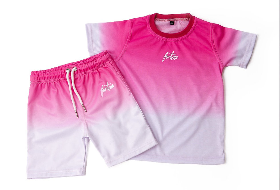 Unisex T-Shirt / Short Set Infants Black/White