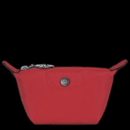 L3693 Pliage cuir Porte monnaie rouge