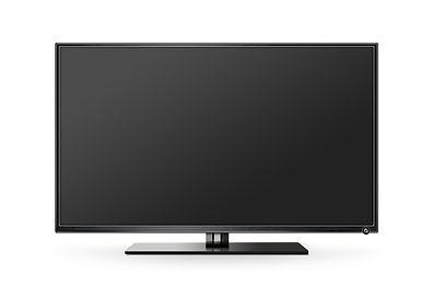 TV flat screen lcd, plasma realistic ill