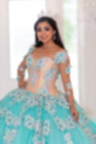 Young teen hispanic girl wearing a quinc