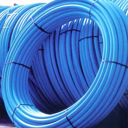 Blue/Black MDPE Pipe PE80 SDR11 - BS EN 12201-2