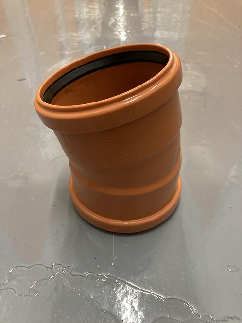 110mm x 15° bend (double socket)