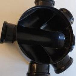 320mm dia x 170mm deep manhole base (6 outlets)