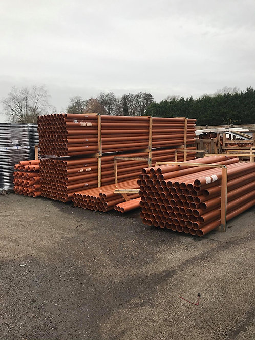 110mm x 3mtr sewer pipe (single socket)